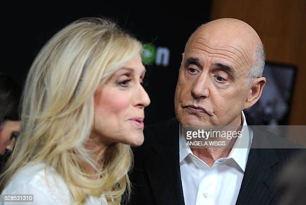 """Actors Judith Light and Jeffrey Tambor attend the Screening and Panel of """"Transparent"""" at the Director Guild of America, in Los Angeles on May 5,..."""