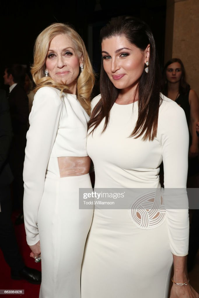 Actors Judith Light (L) and Trace Lysette attend the 28th Annual GLAAD Media Awards in LA at The Beverly Hilton Hotel on April 1, 2017 in Beverly Hills, California.