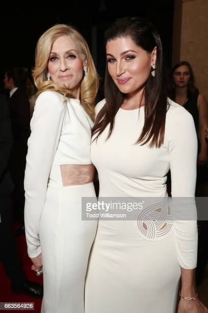 Actors Judith Light and Trace Lysette attend the 28th Annual GLAAD Media Awards in LA at The Beverly Hilton Hotel on April 1 2017 in Beverly Hills...