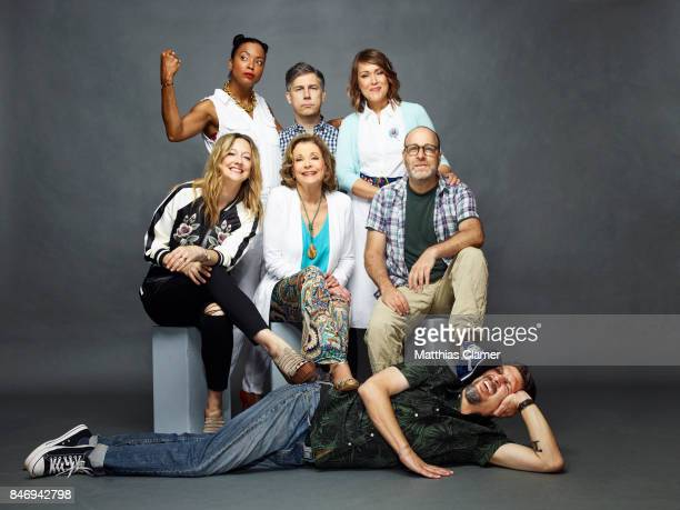 Actors Judy Greer Aisha Tyler Jessica Walter Chris Parnell Amber Nash H Jon Benjamin and Lucky Yates from 'Archer' are photographed for Entertainment...