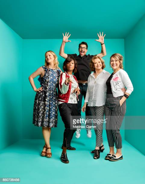 Actors Judy Greer Aisha Tyler Lucky Yates Jessica Walter and Amber Nash from Archer are photographed for Entertainment Weekly Magazine on July 21...