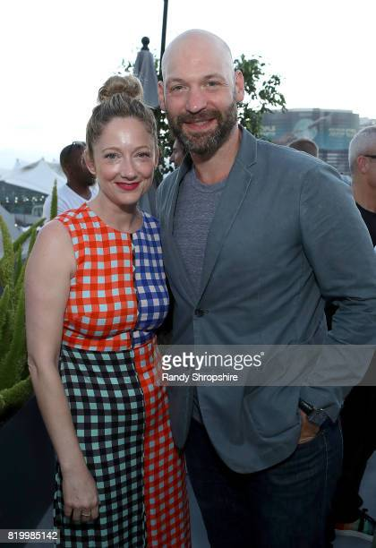 Actors Judy Greer and Corey Stoll attend the Entertainment Weekly and FX After Dark event at the EW Studio during ComicCon at Hard Rock Hotel San...