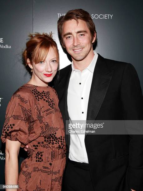 Actors Judy Greer and Lee Pace attend a screening of 'A Single Man' hosted by the Cinema Society and Tom Ford at The Museum of Modern Art on December...