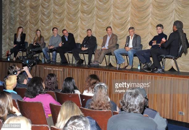 Actors Judy Greer Shailene Woodley Nick Krause Matthew Lillard Robert Forrester Beau Bridges George Clooney and director Alexander Payne attend the...