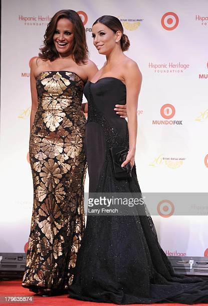 Actors Judy Reyes and Eva Longoria attend the 26th Annual Hispanic Heritage Awards presented by Target at the John F Kennedy Center for the...
