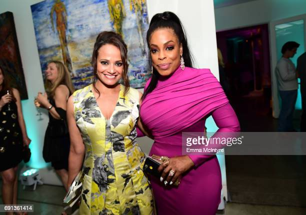 Actors Judy Reyes and Niecy Nash attend the after party for the premiere of TNT's 'Claws' at Harmony Gold Theatre on June 1 2017 in Los Angeles...