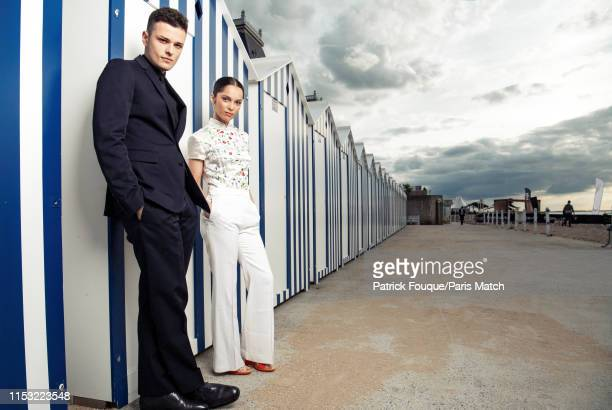 Actors Jules Benchetrit and Lola Le Lann are photographed at the 33rd Cabourg Film Festival for Paris Match on June 14 2019 in Cabourg France
