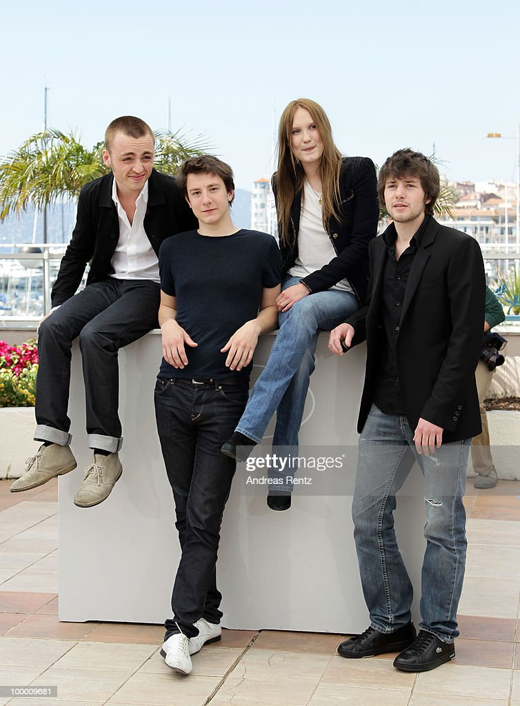 Actors Jules Pelissier,Arthur Mazet, actress Ana Girardot and actor Laurent Delbecque attend the 'Lights Out' Photocall at the Palais des Festivals during the 63rd Annual Cannes Film Festival on May 20, 2010 in Cannes, France.