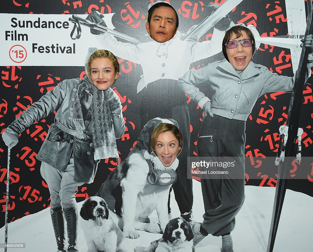 Actors Julia Garner (left), Lily Tomlin (right), Judy Greer (bottom) and John Cho (top) attend the 'Grandma' premiere during the 2015 Sundance Film Festival on January 30, 2015 in Park City, Utah.