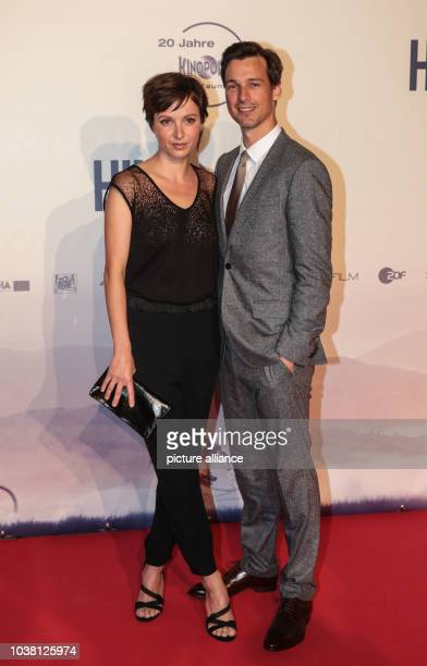 Actors Julia Koschitz and Florian David Fitz on the red carpet before the premiere of the film 'Tour de Force' in Frankfurt am Main Germany 14...