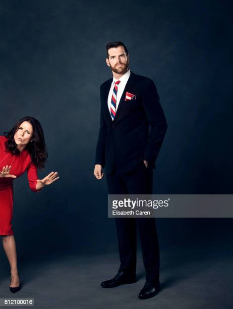 Actors Julia LouisDreyfus and Timothy Simons from HBO's 'Veep' are photographed for The Wrap on April 25 2017 in Los Angeles California