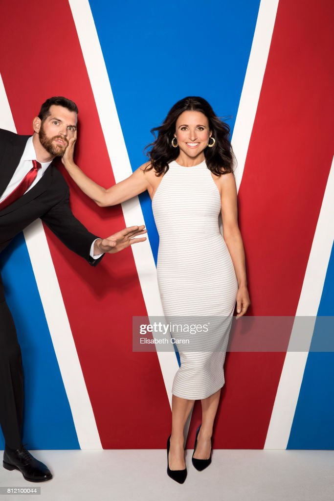 Actors Julia Louis-Dreyfus and Timothy Simons from HBO's 'Veep' are photographed for The Wrap on April 25, 2017 in Los Angeles, California.