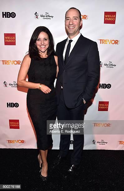 Actors Julia LouisDreyfus and Tony Hale attend TrevorLIVE LA 2015 at Hollywood Palladium on December 6 2015 in Los Angeles California