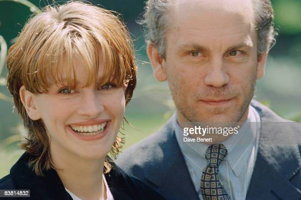 Actors Julia Roberts and John Malkovich announce their upcoming collaboration on the Stephen Frears film 'Mary Reilly' 1st June 1994