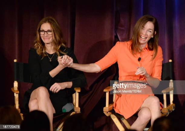 Actors Julia Roberts and Julianne Nicholson onstage during the August Osage County screening presented by The Weinstein Company at Westwood Village...