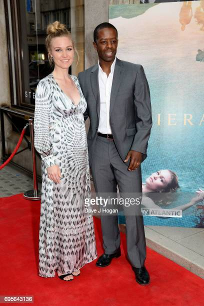 Actors Julia Stiles and Adrian Lester attend the launch event at The Halcyon Gallery on June 13 2017 in London England for new TV drama 'Riviera'...
