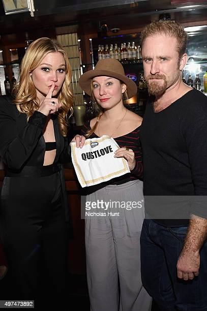 Actors Julia Stiles and Ben Foster attend Urban Arts Partnership at the 15th annual The 24 Hour Plays On Broadway after party at BB King on November...