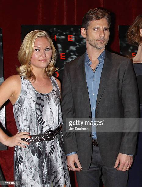 Actors Julia Stiles and Eric Bana attend the 'Closed Circuit' screening at the Tribeca Grand Hotel Screening Room on August 19 2013 in New York City