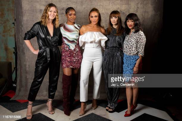 Actors Julia Stiles Keke Palmer Jennifer Lopez director Lorene Scafaria and Constance Wu from 'Hustlers' are photographed for Los Angeles Times on...