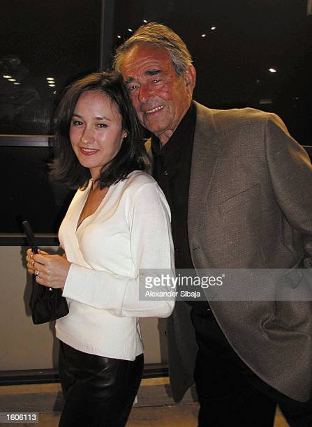 Actors Julia Whitman and her father Stuart pose at the Original Sin after party July 31 2001 at the Directors Guild of America in Hollywood CA