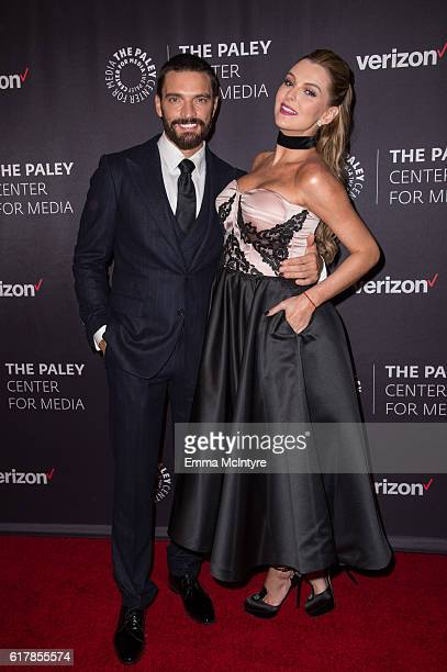 Actors Julian Gil and Marjorie De Sousa arrive at The Paley Center for Media's Hollywood Tribute to Hispanic Achievements in Television event at the...