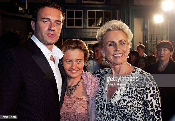 Actors Julian McMahon attends with his sister Melinda and mother Lady Sonia MacMahon an exclusive cocktail function to promote the release of the...