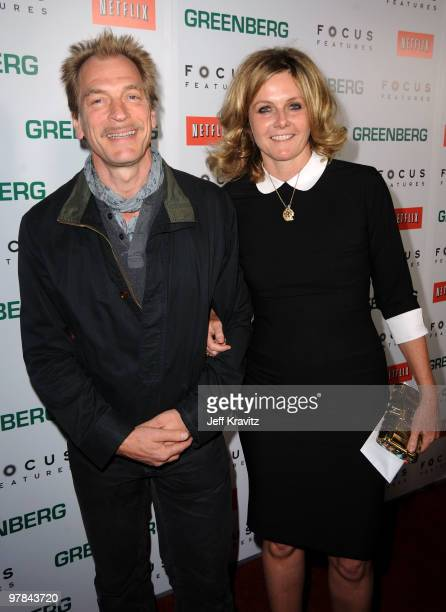 Actors Julian Sands and Susan Traylor arrive at the premiere of Greenberg presented by Focus Features at ArcLight Hollywood on March 18 2010 in...
