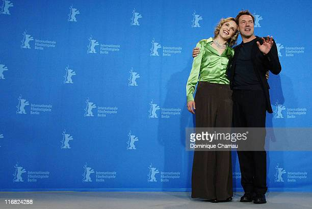 Actors Juliane Koehler and Sebastian Koch attend the 'Effi Briest' photocall during the 59th Berlin International Film Festival at the Grand Hyatt...