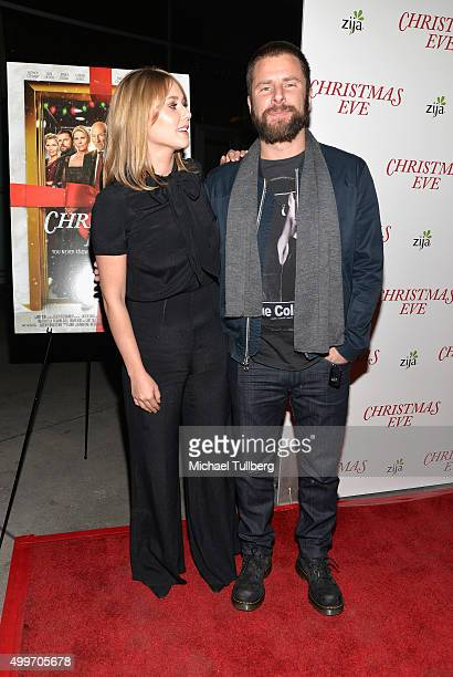 Actors Julianna Guill and James Roday attend the world premiere of Unstuck's 'Christmas Eve' at ArcLight Hollywood on December 2 2015 in Hollywood...