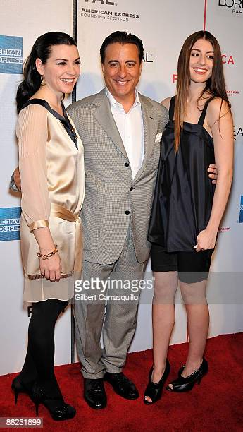 """Actors Julianna Margulies, Andy Garcia and Domenik Garcia-Lorido attend the premiere of """"City Island"""" during the 8th Annual Tribeca Film Festival at..."""