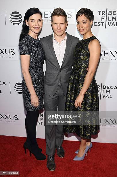 Actors Julianna Margulies Matt Czuchry and Cush Jumbo attend 'The Good Wife' Screening during the 2016 Tribeca Film Festival at John Zuccotti Theater...