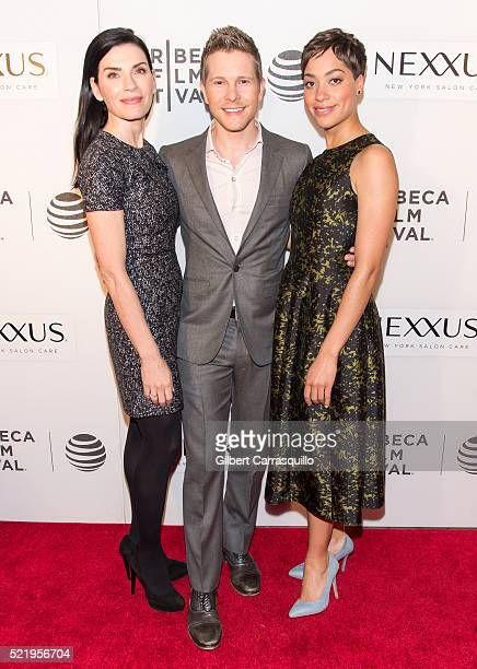 Actors Julianna Margulies Matt Czuchry and Cush Jumbo attend 'The Good Wife' Screening during 2016 Tribeca Film Festival at John Zuccotti Theater at...