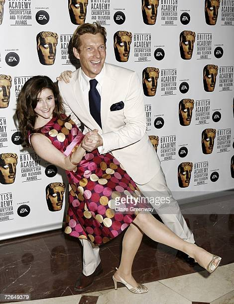 Actors Julianna Rose Mauriello and Magnus Scheving arrive at the 11th British Academy Children's Film Television Awards at the Park Lane Hilton hotel...