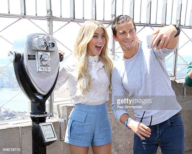 Actors Julianne Hough and Bear Grylls visit The Empire State Building on July 11 2016 in New York City