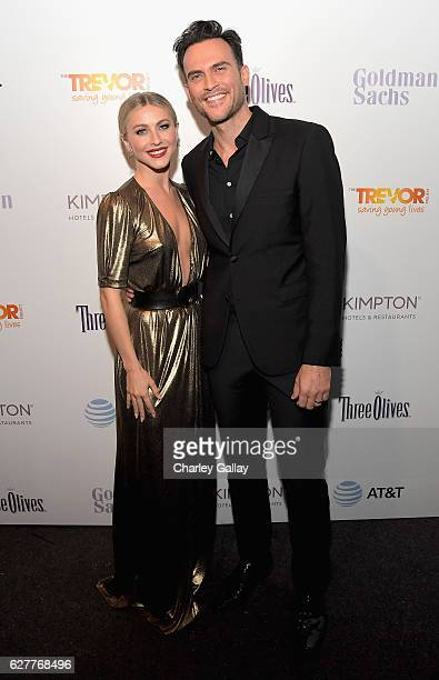 Actors Julianne Hough and Cheyenne Jackson attend The Trevor Project's 2016 TrevorLIVE LA at The Beverly Hilton Hotel on December 4 2016 in Beverly...