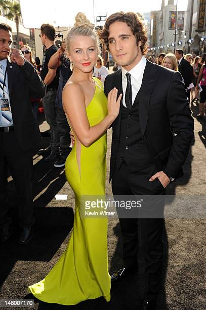 """Actors Julianne Hough and Diego Boneta arrive at the premiere of Warner Bros. Pictures' """"Rock of Ages"""" at Grauman's Chinese Theatre on June 8, 2012..."""