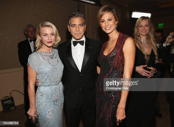 Actors Julianne Hough George Clooney and Stacy Keibler attend the 26th Anniversary Carousel Of Hope Ball presented by MercedesBenz at The Beverly...