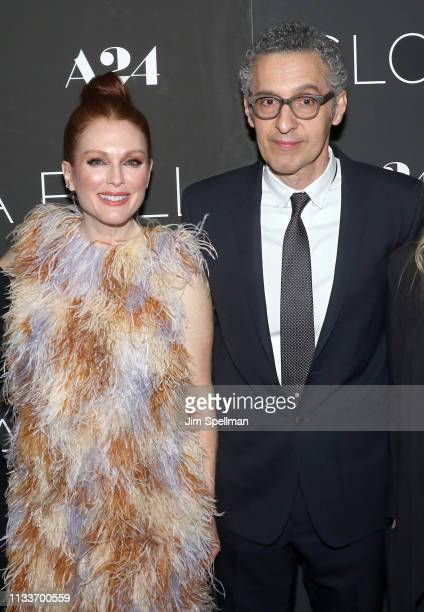 Actors Julianne Moore and John Turturro attend the 'Gloria Bell' New York screening at Museum of Modern Art on March 04 2019 in New York City