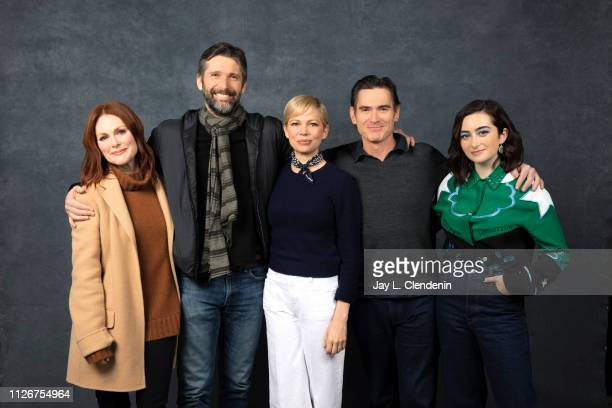 Actors Julianne Moore director Bart Freundlich Michelle Williams Billy Crudup and Abby Quinn from 'After the Wedding' are photographed for Los...