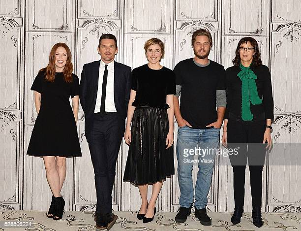 Actors Julianne Moore Ethan Hawke Greta Gerwig Travis Fimmel and writer/director Rebecca Miller visit AOL Build to talk about their new movie...