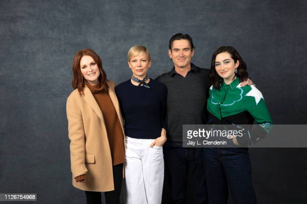 Actors Julianne Moore, Michelle Williams, Billy Crudup and Abby Quinn, from 'After the Wedding' are photographed for Los Angeles Times on January 25,...