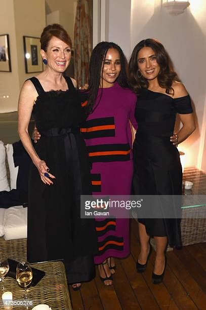 """Actors Julianne Moore, Zoe Kravitz and Salma Hayek attend """"The Art Of Behind The Scenes Jaeger-LeCoultre And Finch & Partners"""" party at Hotel du..."""