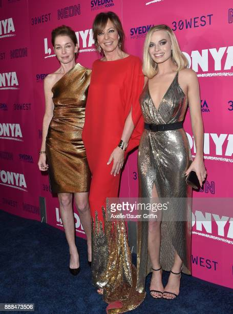 Actors Julianne Nicholson Allison Janney and Margot Robbie attend the Los Angeles premiere of 'I Tonya' at the Egyptian Theatre on December 5 2017 in...
