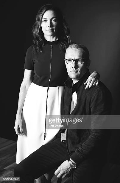 Actors Julianne Nicholson and Joel Edgerton from Black Mass poses for a portrait during the 2015 Toronto International Film Festival at the TIFF Bell...