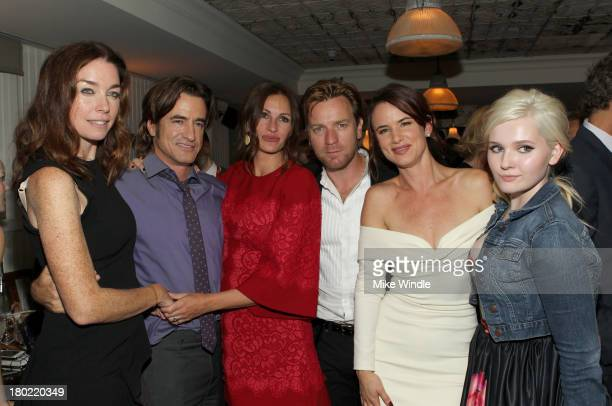 Actors Julianne Nicholson Dermot Mulroney Julia Roberts Ewan McGregor Juliette Lewis and Abigail Breslin attend the AUGUST OSAGE COUNTY TIFF Party...