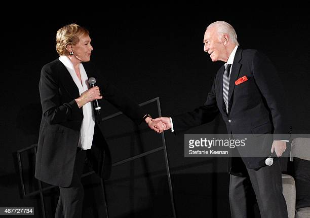 Actors Julie Andrews and Christopher Plummer speak onstage at the Opening Night Gala and screening of The Sound of Music during the 2015 TCM Classic...
