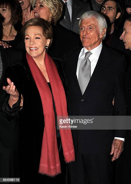 Actors Julie Andrews and Dick Van Dyke attend the US premiere of Disney's Saving Mr Banks the untold backstory of how the classic film Mary Poppins...
