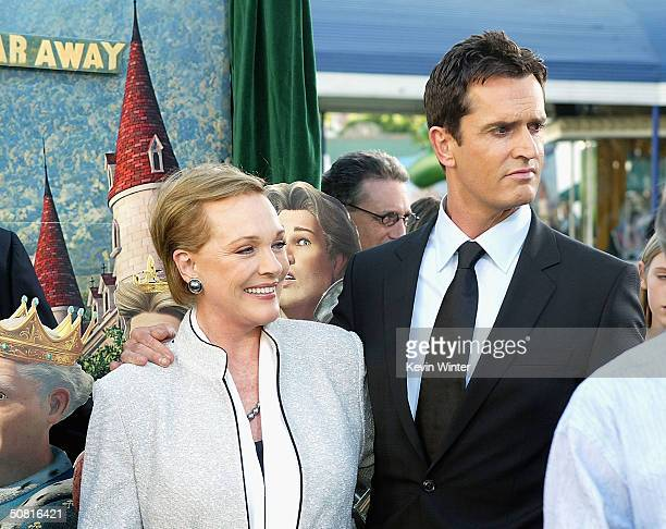 Actors Julie Andrews and Rupert Everett attend the Los Angeles premiere of the Dreamworks Pictures' film Shrek 2 at the Mann Village Theatre May 8...
