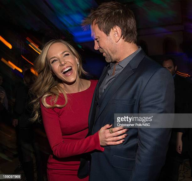 Actors Julie Benz and Grant Bowler at the NBCUniversal 2013 TCA Winter Press Tour Party held at The Langham Huntington Hotel and Spa on January 7,...