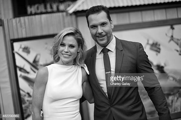 Actors Julie Bowen and Dane Cook attend World Premiere Of Disney's 'Planes Fire Rescue' at the El Capitan Theatre on July 15 2014 in Hollywood...